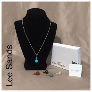 New Lee Sands necklace with 5 matching charms
